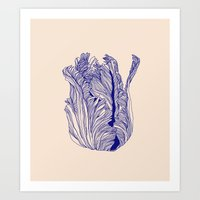 tulip Art Prints featuring Dark tulip by Annike