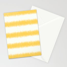 Ikat Stripe Yellow Stationery Cards