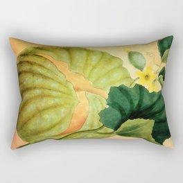 Muskmelon, Vintage Botanical Illustration Collage Art Rectangular Pillow
