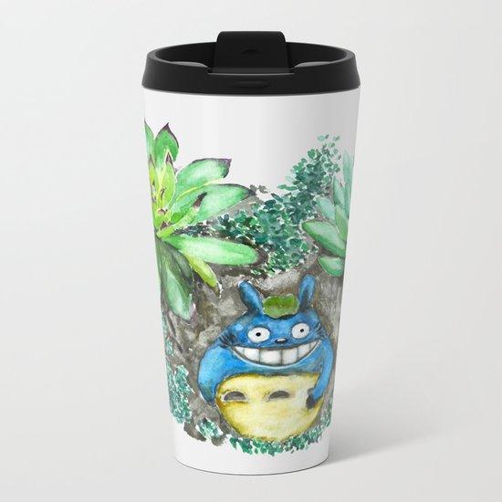 succulent plant set Metal Travel Mug
