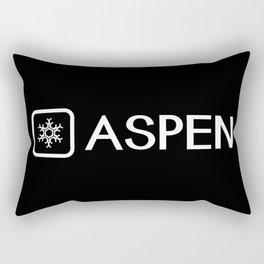 Snowflake: Aspen, Colorado Rectangular Pillow