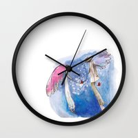 angels Wall Clocks featuring angels by SOYKO STUDIO