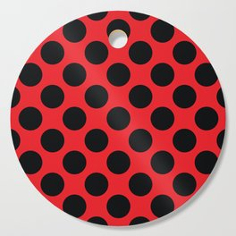 Red with black dots Cutting Board