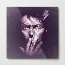 Starman - David Bowie Portrait Metal Print