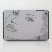 angelina jolie iPad Cases featuring Angelina Jolie by Natasha Lake