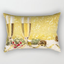 Happy New Year 4k xmas champagne Christmas christmas decorations New Year Rectangular Pillow