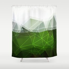 Green abstract background Shower Curtain