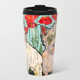 West Highland Terriers by RobiniArt Travel Mug