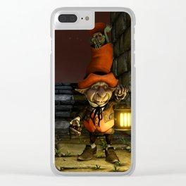 The Leprechaun and The Goblin - Fantasy Artwork Clear iPhone Case