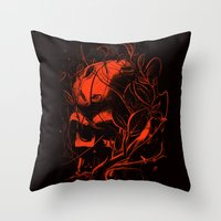 vader Throw Pillows featuring VADER by nicebleed