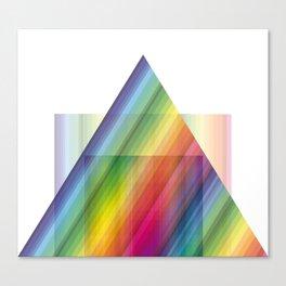 rainbow tringle Canvas Print