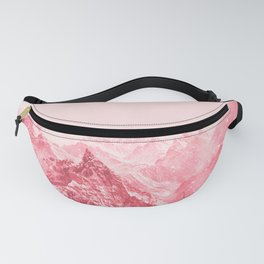 Mountains Red Fanny Pack