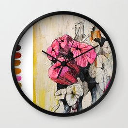 Pink wood stumps Wall Clock