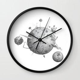 Post Human Planets Wall Clock