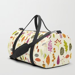 Fall Autumn Nature Forest Bits Duffle Bag