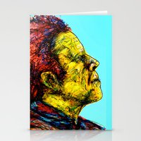 tom waits Stationery Cards featuring Tom Waits by Alec Goss