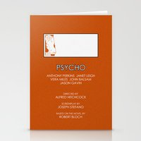 psycho Stationery Cards featuring Psycho by MacGuffin Designs