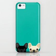2 French Bulldogs iPhone 5c Slim Case