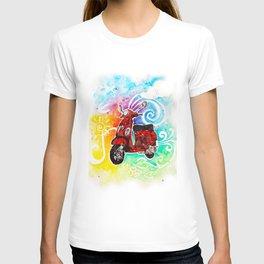 Vespa motorcycle T-shirt