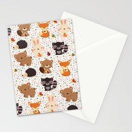 Woodland Nursery Pattern Stationery Cards