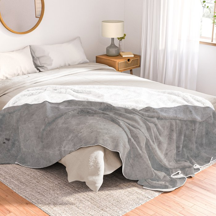 Simply Concrete II Throw Blanket