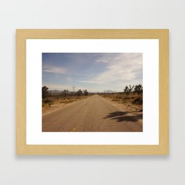 Through the Mojave Framed Art Print