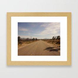 Through the Mojave Framed Art Print