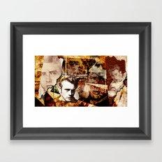 Jame Dean - Grunge Style - Framed Art Print