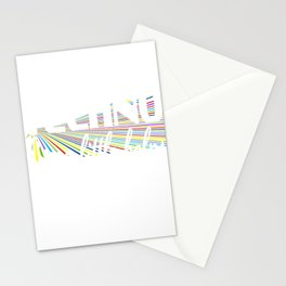 "Strikingly vibrant colorful  ""Techno Every Little Helps"" tee design for you!Unique and fabulous gift Stationery Cards"