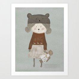 lucy bear Art Print