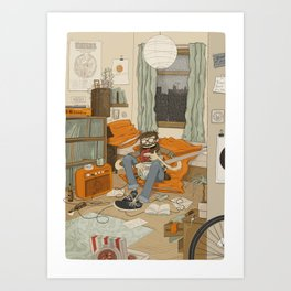 RAINY SUNDAY Art Print