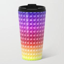 Hibiscus Rainbow Colorful Travel Mug