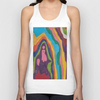 "pastel goth Tank Tops featuring ""Alien Goth"" (7211) by DelusionalDiva"