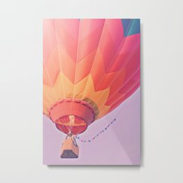 Summer Hot Air Balloon Metal Print