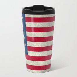 1776 Bennington flag - Vintage Stone Textured Travel Mug