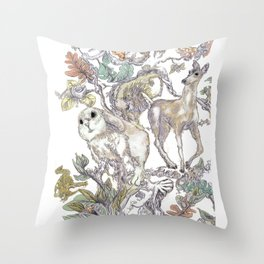Fauna Inlay Pattern #1 Throw Pillow