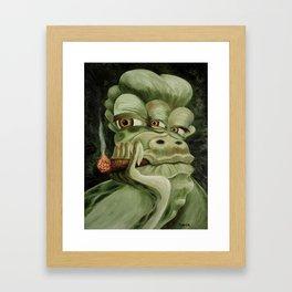 Alien Joe Monster Framed Art Print