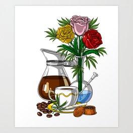 Weed And Coffee Art Print