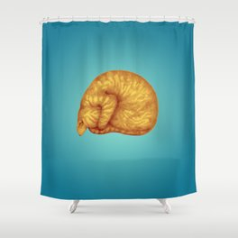 Ginger Introvert in Deep Teal Slumber Shower Curtain