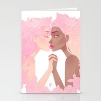 sassy Stationery Cards featuring Sassy Kisses by Petite Passerine