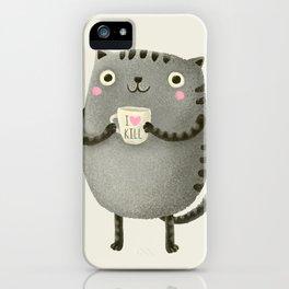 I♥kill (brown) iPhone Case