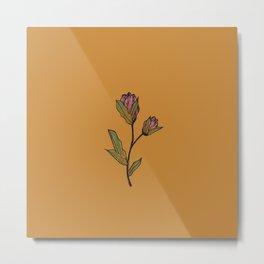 Rose & Thistle Metal Print