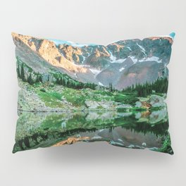 Sun Ridge Lake Reflection // Incredible Backpacking Trip Wild Flowers and Natural Beauty Pillow Sham