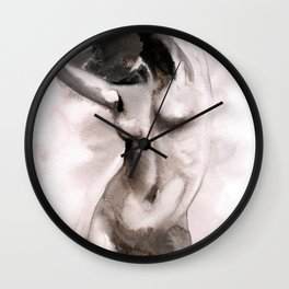 "seria ""NUDE"" title ""SUNNY"" Wall Clock"