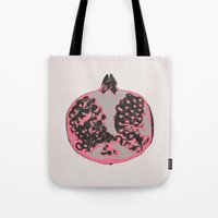 pomegranate Tote Bags featuring Pomegranate by Georgiana Paraschiv