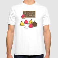 Learning to Fly White MEDIUM Mens Fitted Tee