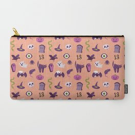 Halloween pattern in peach Carry-All Pouch