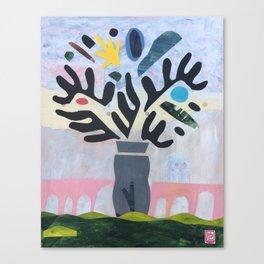 Pont du Gard Plant Canvas Print