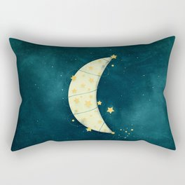 Moon and Stars Rectangular Pillow
