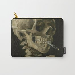 Head of a Skeleton with a Burning Cigarette Carry-All Pouch